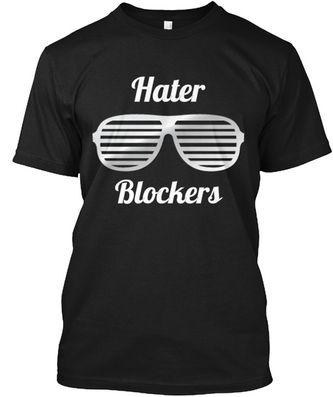 Hater Blockers Black T-Shirt Front