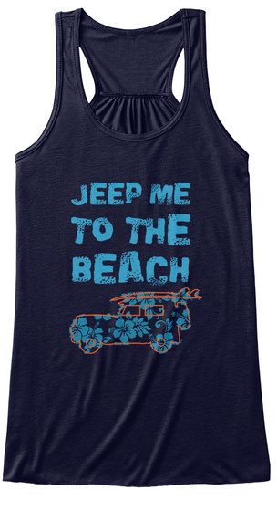 Jeep Me To The Beach Midnight T-Shirt Front