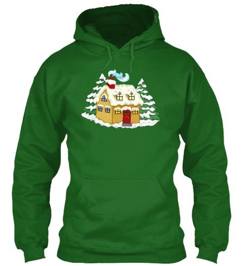 Santa's House T Shirts Irish Green T-Shirt Front