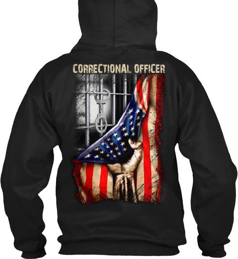 Correctional Officer Black T-Shirt Back