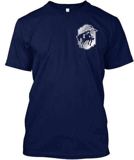 Beware! I Ride Horses! Navy T-Shirt Front