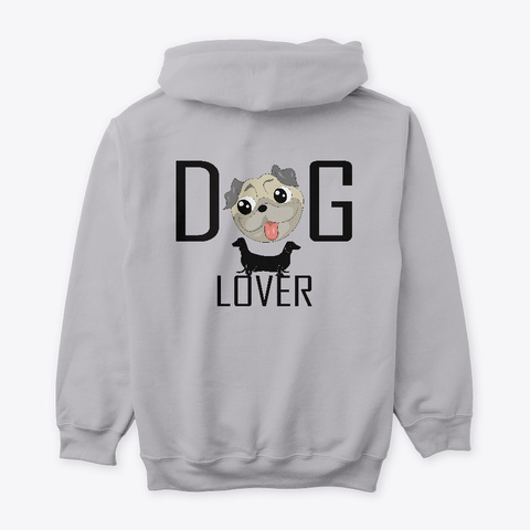 Dogs Lover Sport Grey T-Shirt Back