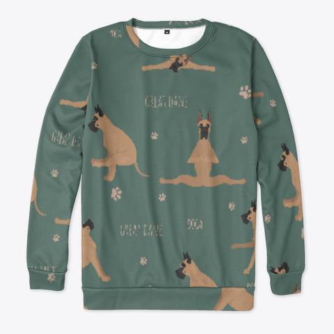 Yoga Great Dane Sweatshirt Standard T-Shirt Front