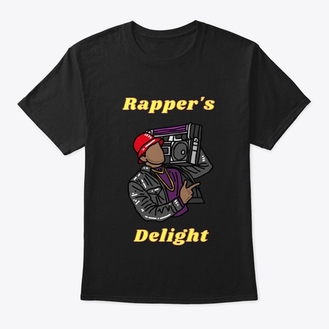 Rapper's Delight Black T-Shirt Front