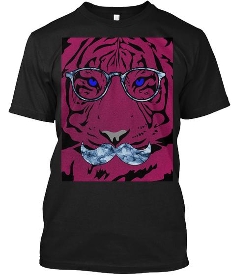 Mr. Tiger Black T-Shirt Front