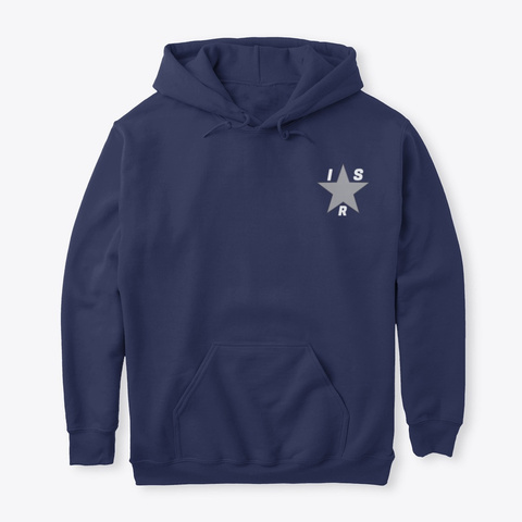 Official Indie Star Radio Hoodie Navy T-Shirt Front