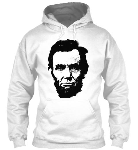Abraham Lincoln White T-Shirt Front