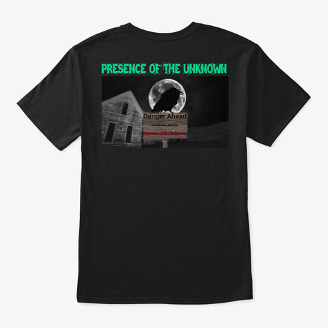 Presence Of The Unknown Black T-Shirt Back