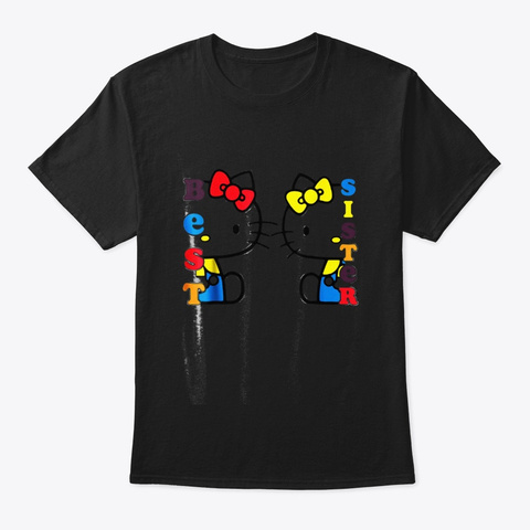 Best Sister Tee Black T-Shirt Front