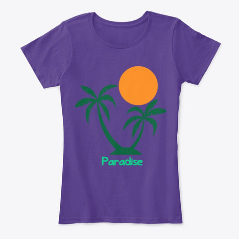 Palms Purple T-Shirt Front
