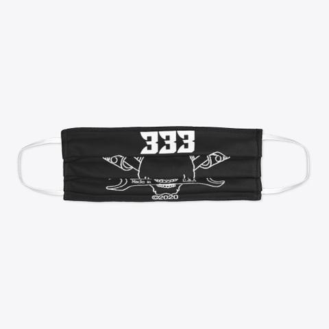 Half Evil Customs Face Mask Black T-Shirt Flat