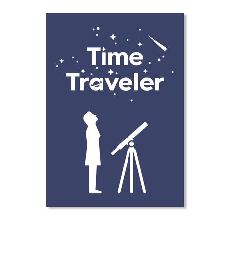 Time Traveler Woman Sticker [Int] #Sfsf Dark Navy Sticker Front