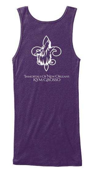 Immortals Of New Orleans Kym Grosso Purple Women's Tank Top Back
