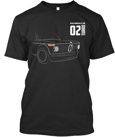 02 Turbo Black T-Shirt Front