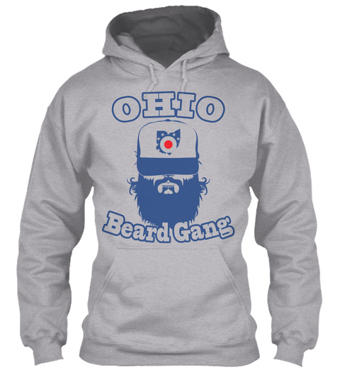 Ohio O Beard Gang Sport Grey T-Shirt Front