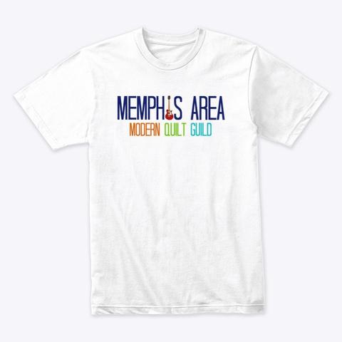 Mamqg Classic Logo Gear White T-Shirt Front