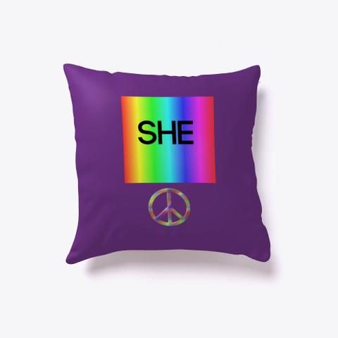 Rainbow Peace Purple T-Shirt Front