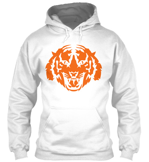 Tiger Face Wild Animal 9103 White T-Shirt Front
