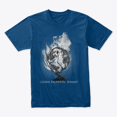 Global Prophetic Summit 2018 Cool Blue T-Shirt Front