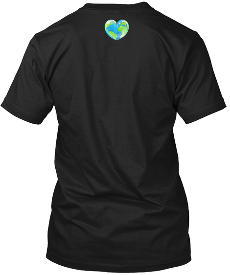 One World | One Dance Flag Design Black T-Shirt Back