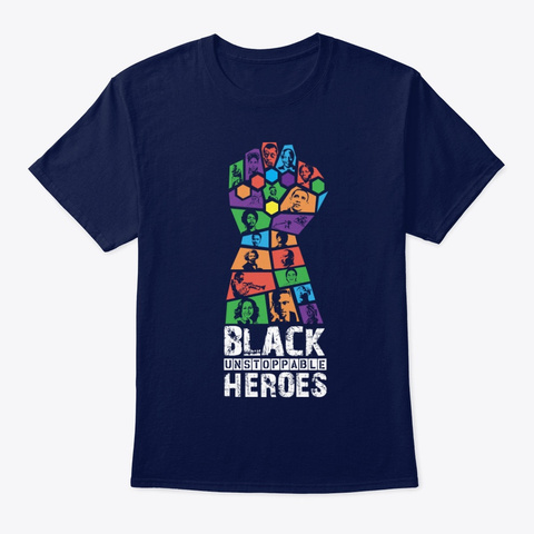 Discover Heroes   Revolution Navy T-Shirt Front