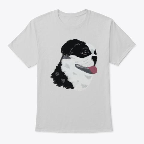 Puginese Acrylic Pug Art  Light Steel T-Shirt Front