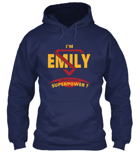 Emily Navy T-Shirt Front