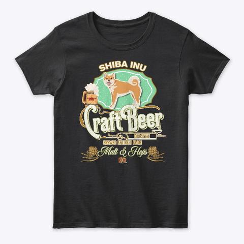 Shiba Inu Gifts Dog Beer Lover Black T-Shirt Front
