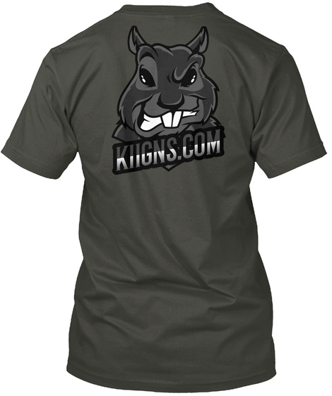 Blackout Angry Squirrel Smoke Gray T-Shirt Back