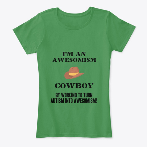 Awesomism Cowboy Kelly Green  T-Shirt Front