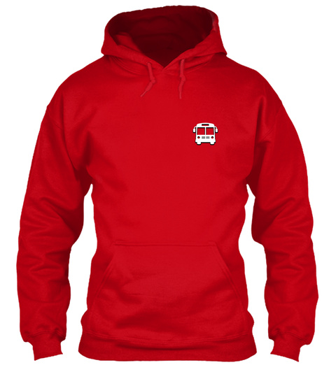 Bus Driver Hoodie Christmas Special Red T-Shirt Front