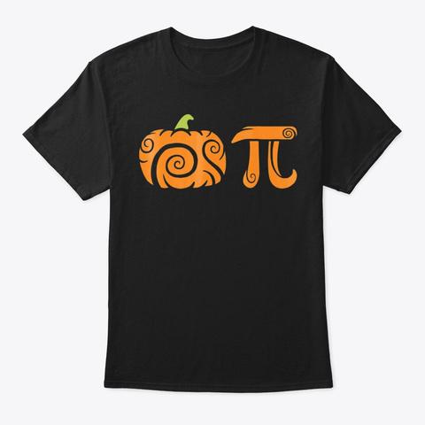 Pumpkin Pi Funny Halloween Pie Math Love Black T-Shirt Front