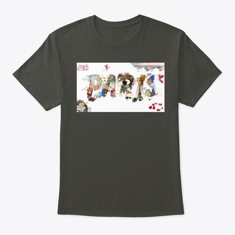 Art In Paris Smoke Gray T-Shirt Front