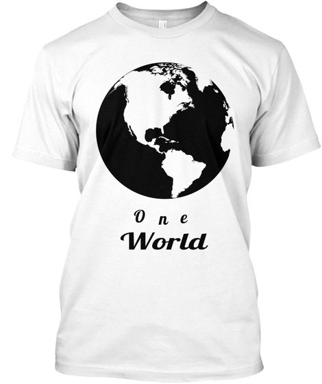 One World White T-Shirt Front