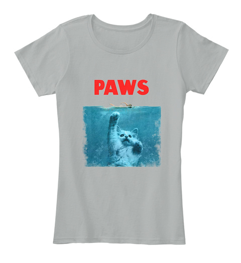 Paws Grey T-Shirt Front