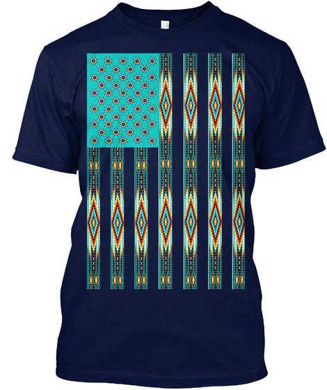 Indigenous Hieroglyphics Navy T-Shirt Front