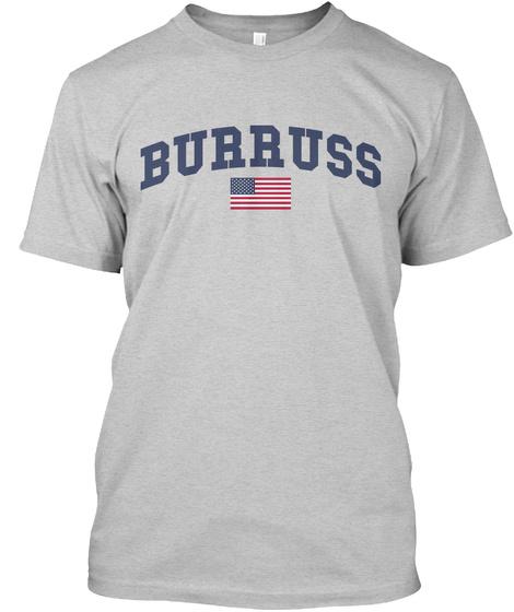 Burruss Family Flag Light Steel T-Shirt Front