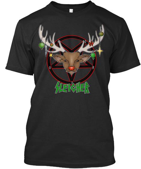 Sleigher Black T-Shirt Front