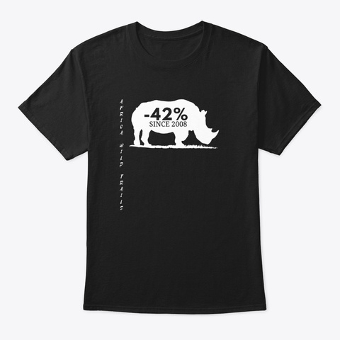Rhino Black T Shirt Black T-Shirt Front