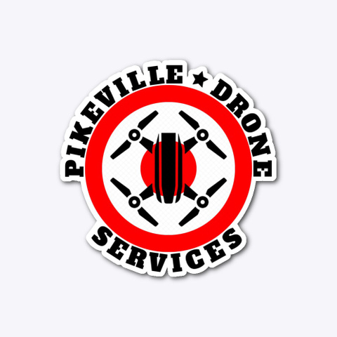 Pikeville Drone Services Sticker Standard T-Shirt Front