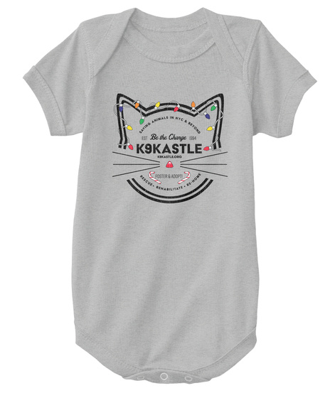 Be The Change K9kastle Heather  T-Shirt Front