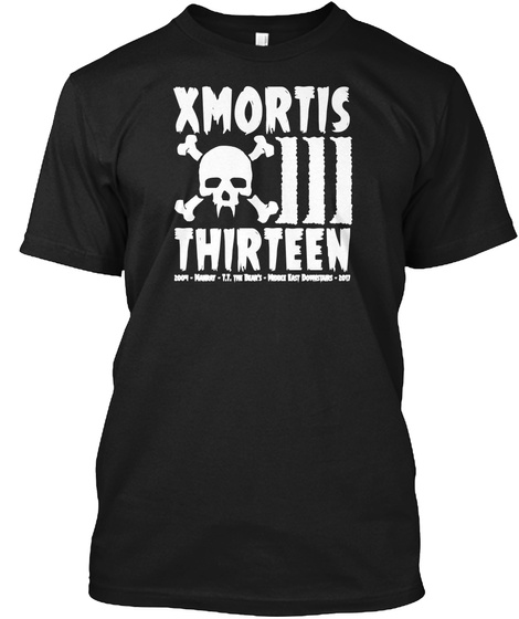 Xmortis Thirteen Black T-Shirt Front