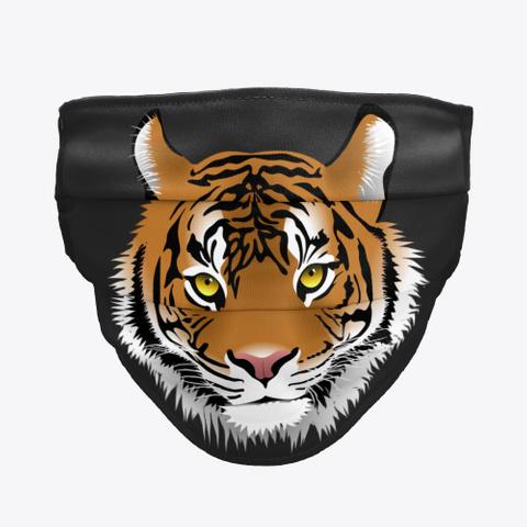Eye Of Tiger Black T-Shirt Front