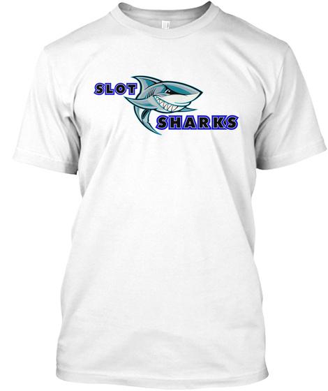Slot Sharks White T-Shirt Front