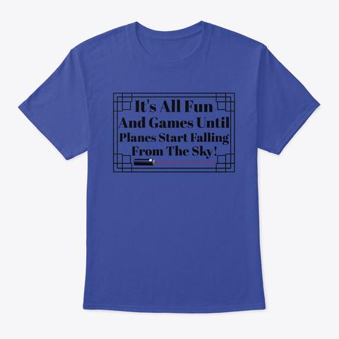 Fun Laser Deep Royal T-Shirt Front