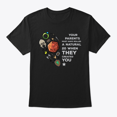 Roleplaying Rpg Valentines Day Anniversa Black T-Shirt Front