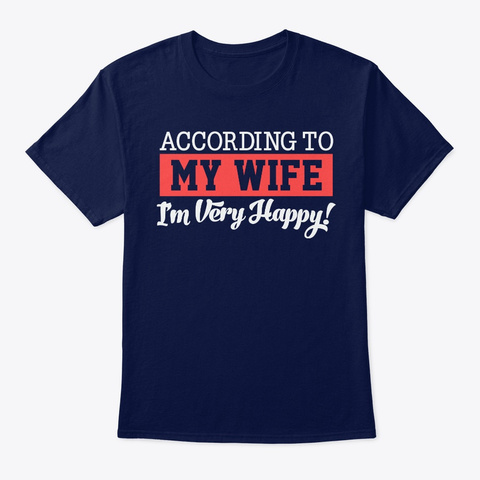 Best Gift For Husband On 25th Anniversar Navy T-Shirt Front