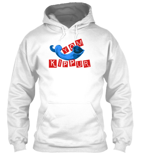 Yom Kippur White Sweatshirt Front