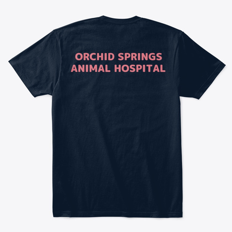 Certified Cat Friendly New Navy T-Shirt Back