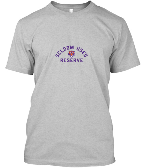 Seldom Used Reserve Light Heather Grey  T-Shirt Front